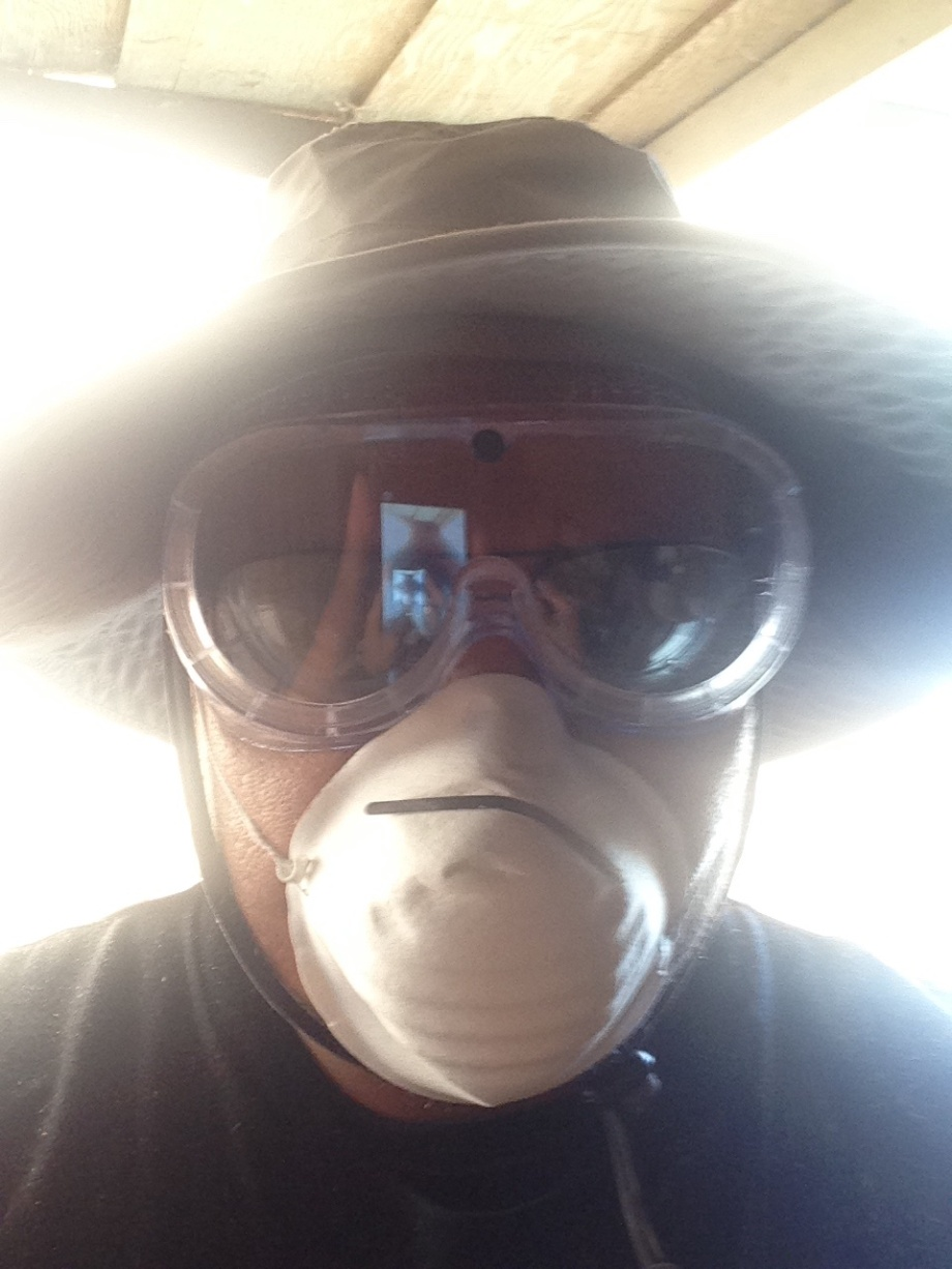 safety is always first. goggles and face mask, you don't want to be inhaling saw dust and get it in your eyes either. also a good hat for the sun is always welcomed