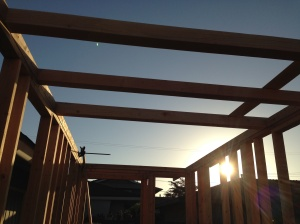 loft beams up and ready