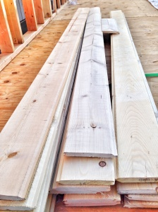 my long long pieces of flooring for my lofts. i had to rent a home depot truck to get these long pieces along with my cedar 2x4 and other cedar pieces